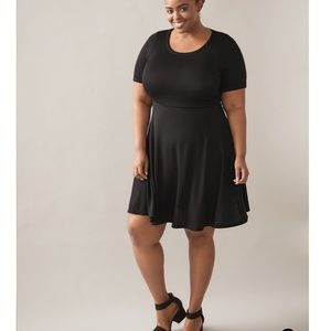 Plus Size 5X Skater Dress Black In Every Story